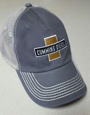 Dodge Cummins diesel trucker hat ballcap gray panel w/ white Mesh adjustable new