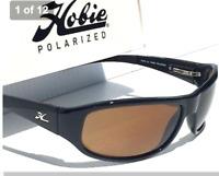 NEW* HOBIE NAPA Black POLARIZED Bronze Lens Golf Angler Wrap Sport Sunglass