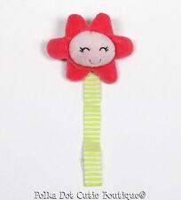 Carter's Plush Flower Pacifier Clip Holder