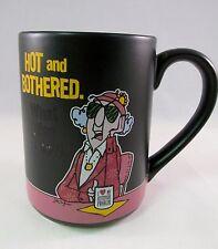 Maxine Hallmark Hot and Bothered Temp Sensitive Coffee Mug Black/Pink GUC