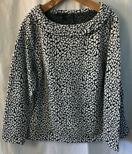 NWT Talbots Darling Audrey Neck Top Pullover Blouse Animal Print Plus Size 2X