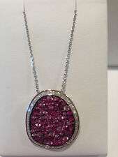 Ruby and Diamond Necklace white gold