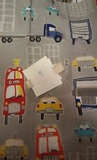 New Pottery Barn Kids Grey AUTOS Standard SHAM Truck Bus Taxi gray