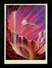 Space postcard Russian Concept Art Artist Sokolov 1978 chrome Mars Sandriver