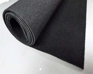 8,40 Euro/m² Autoteppich schwarz Meterware Kofferraummatte Fußmatten Oldtimer