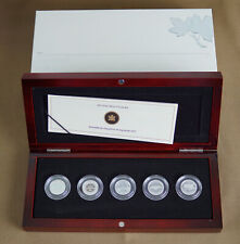 CANADA 2012 FAREWELL TO THE PENNY 5 COIN SILVER PROOF SET