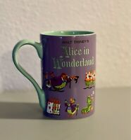 DISNEY Store MUG Record Cover ALICE IN WONDERLAND CHESHIRE CAT Coffee 16 oz