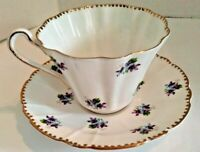 Royal Stafford Bone China made in England Sweet Violets tea cup and saucer