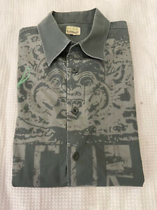 "Rip Curl Men's Green ""Search Oceans"" L/Sleeve Casual Cotton Shirt ~ Size XL"