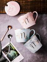 Marble Ceramic Mug Mr Mrs Couple Coffee Tea Cup Anniversary Gift Present