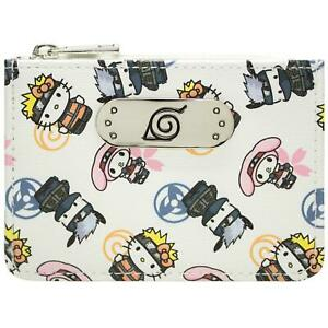NEW OFFICIAL HELLO KITTY NARUTO COSTUMES KAWAII WHITE COIN & CARD PURSE