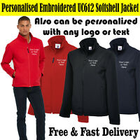 Personalised Embroidered Logo/Any Text UC612 Softshell Jacket Custom Work Wear
