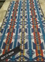 "WOOL BLANKET""REMNANT"" MED.WT.FABRIC REMNANT"" TRIBAL100% VIRGIN WOOL NEW ARRIVAL"
