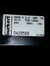Burkert 0256 A-5.0-NBR-MS, G1/4 PN0-12Bar, 50Hz Flow Valve 24V 10W,042858B  NEW