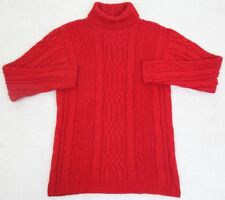 Sweater Small Red Turtleneck WoMens Long Sleeve Solid Acrylic Classic Elements