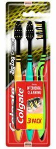 Colgate Zigzag Charcoal Medium Toothbrushes 3Pk