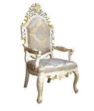 Stuhl Thron Sessel Set Esszimmer Designer Holz Antik Stil Barock Rokoko Möbel