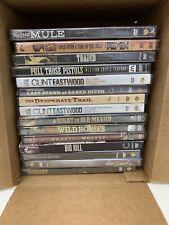 15 Western Dvd Lot - Eastwood Wyatt Earp Unforgiven Dirty Hairy W621