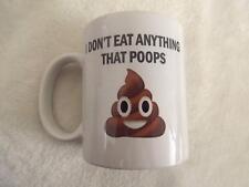 I Don't eat Anything That Poops Vegetarian Vegan 11oz Ceramic Mug Gift Xmas Birt