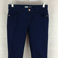 Old Navy Super Skinny womens size 4 stretch dark wash mid rise denim jeans EUC
