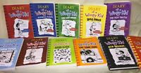 Diary of a Wimpy Kid Mostly Paperback Books Lot of 11 (1 though 11)