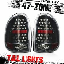For Chrysler Dodge Plymouth LED Gloss Black Housing Clear Lens Taillight