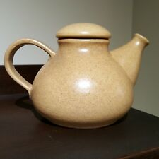 Vintage Bay Keramik Mid-century Lidded Ceramic Teapot Speckled Beige West German