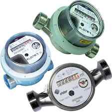 """1 Paar Wasserzähler Kalt & Warm, R1/2"""" = G3/4"""" Zoll 110mm Baulänge, gebraucht"""