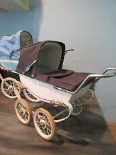Vintage Red Doll Pram , Carriage , Stroller  made in France