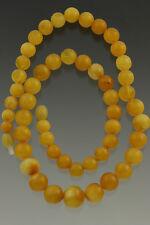 ANTIQUE Vintage Egg Yolk Baroque Beads Genuine BALTIC AMBER Necklace 24g 80814-2