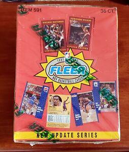 1991-92 Fleer Update NBA Basketball Box Factory Sealed 36 packs Mutombo Rookie