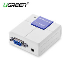 Ugreen VGA to HDMI Cable Converter Aux 1080P Audio Video Adapter Connector HDTV