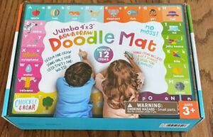 Chuckle & Roar Jumbo 4'x3' Aqua Draw Doodle Mat Complete In Open Box Free Ship