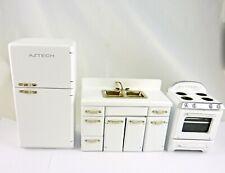 Dollhouse Miniature WHITE Retro 1950's Style Kitchen Set, T5017