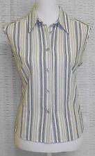 Gestreifte ärmellose Damenblusen, - tops & -shirts aus Baumwollmischung