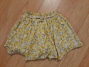 Baby Girls Next Lemon Floral Skirt Size 18-24 Months
