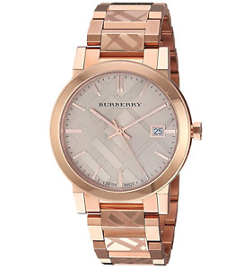 Burberry Burberry The City Engraved Women's Watch Rose Gold Stainless BU9039