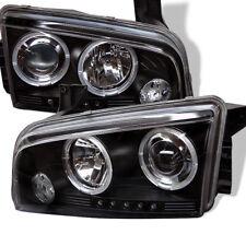 Dodge 06-10 Charger Black Halo LED Projector Headlights RT SE SXT SRT-8 Daytona