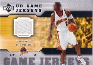 Mickael Pietrus Golden State Warriors 2005-06 Upper Deck Game Jersey patch card
