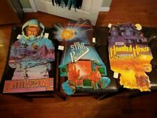 3 Vintage Atari SIGNS 1982 DOUBLE SIDED Battlezone Star Raiders Haunted House