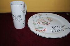 Food Network Christmas Plates and Mugs