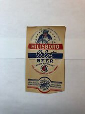 Hillsboro Pilot Beer Vintage paper beer label Louis Ziegler Brewing BeaverDam,Wi