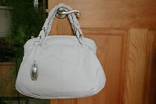 Nicoli Cristallo Genuine Leather Made In Italy Satchel Bag Whites Bianco NWT