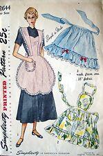 1940's VTG Simplicity Misses' Aprons Pattern 2644