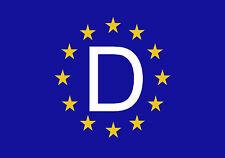 Premium pegatinas europa con alemania coche bandera pegatinas bandera car sticker