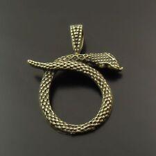 20pcs Antique Style Bronze Tone Vivid Snake Charm Pendant Finding Hot 38010