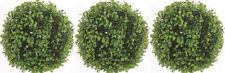 """3 ARTIFICIAL BOXWOOD BALL IN OUTDOOR TOPIARY PLANT ARRANGEMENT BUSH 10"""" FLORAL"""