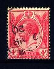 STRAITS SETTLEMENTS - MALACCA - 1919 - 1920 - Re Giorgio V. Tipo del 1912-1913