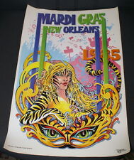 VINTAGE 1985 MARDI GRAS POSTER - EXCELLENT CONDITION - FREE SHIPPING