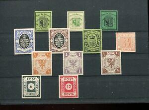 Nachdrucke von teuren alten Briefmarken Schweiz, Lübeck, Oldenburg, Sachsen Sowj